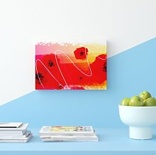 'Red Poppy Ocean' Graphic Art Print on