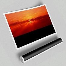 'Red Sunbeams over the Black Ocean' -