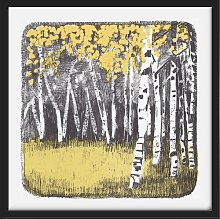'Silver Birch' Framed Graphic Art Print