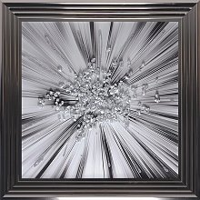 'Silver Blast' Framed Graphic Art Print