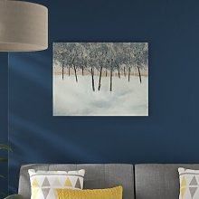 'Silver Trees on White' Painting Print