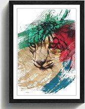 'Snow Leopard' Framed Art Print East Urban