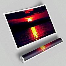 'Sun Blaze over the Red Ocean Sky' -