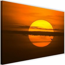 'Sunset' - Wrapped Canvas Photograph Print