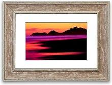 'Surreal Red Ocean Nights Cornwall' Framed