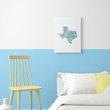 'Texas Cool' - Unframed Typography Print