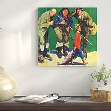 'The Best Fisherman' - Wrapped Canvas