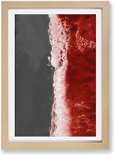 'The Red Ocean Waves' - Picture Frame