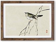 'Tit Bird on a Tree Branch' by Kono Bairei