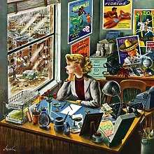 'Travel Agent at Desk' by Constantin
