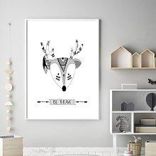 'Tribal Nursery Be Brave Deer' Framed