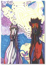 'Two Horses First Date' by Solveig Studio