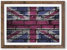 'Union Jack Brick Wall Graffiti' - Picture