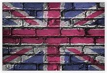 'Union Jack Brick Wall Graffiti' -