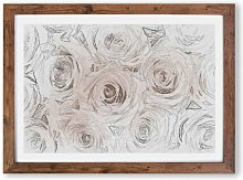 'Wall of Pink Roses' - Picture Frame