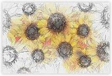 'Wall of Yellow Sunflowers' - Unframed