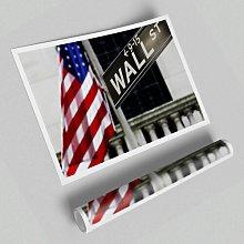 'Wall Street Flag' - Unframed Graphic Art
