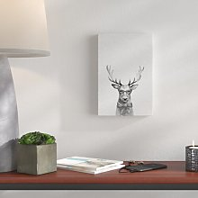 'Wise Deer' - Wrapped Canvas Painting