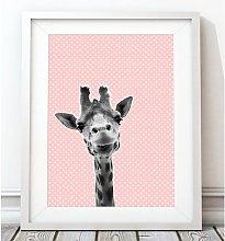 'Woodland Nursery - Baby Giraffe Polka