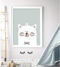 'Woodland Nursery - Mr Bear' Framed