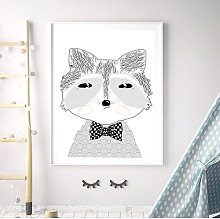 'Woodland Nursery Portrait Of Mr Raccoon'
