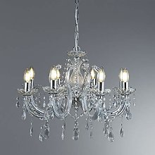 399-8 Marie Therese Chrome 8 Light Chandelier