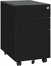 39cm Wide Three-Drawer Side Pull Movable Cabinet