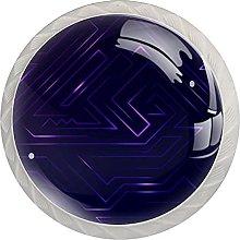 3D Abstract Purple, Modern Minimalist Printing