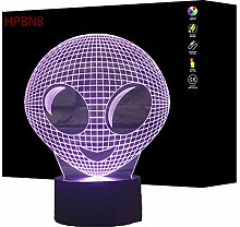 3D Alien Night Light USB Touch Switch Decor Table