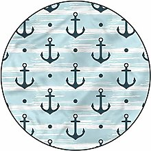 3D Anchor Pattern Area Rugs Carpets,4'