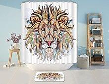 3D Animal Digital Print Shower Curtain,