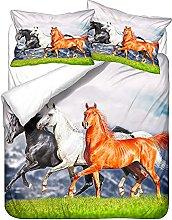 3D Animal Duvet Cover Set and Pillowcase, Natural