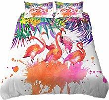 3D Animal Flamingo Bedding set Tropical Jungle