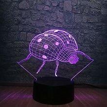3D Animal Series Led Lamp Lady Beetle RGB Lighting