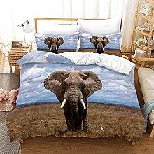 3D Animal Theme Bedding, Duvet Cover, Microfiber,