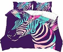 3D Animals Zebra Flowers Bedding set Duvet Cover
