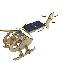 3D Assemble Solar Energy Powered Helicopter Wooden