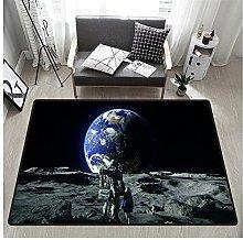 3D Astronaut Print Rectangular Rug 160x230