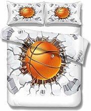 3D Basketball Flame Pattern Design Bedding Set