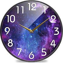 3D Beautiful Galaxy Nebula Stars Round Wall