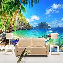 3D Beautiful Landscape Seaside Nature Wallpaper