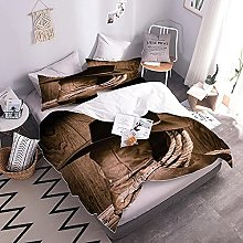 3D Bed Set Leather Boots With Duvet Cover And
