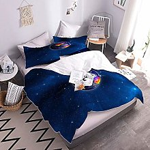 3D Bed Set Planet Printed Bedding Quilt Duvet