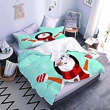 3D Bed Set Snowman Bedding Set With Zipper Closure