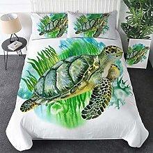 3D Bedclothes 2/3 pcs Marine Animal Turtles