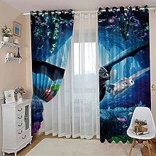 3D Blackout Curtains - How to Train Your Dragon
