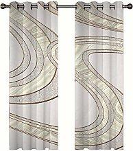 3D Blackout Curtains Modern Minimalist Style