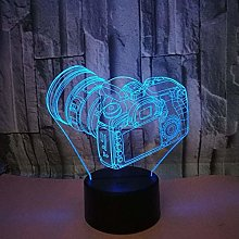 3D Camera Night Light USB Touch Switch Decor Table