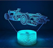 3D Car Night Light Touch Table Desk Lamp,7 Colors