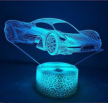 3D Car Night Light USB Touch Switch Decor Table